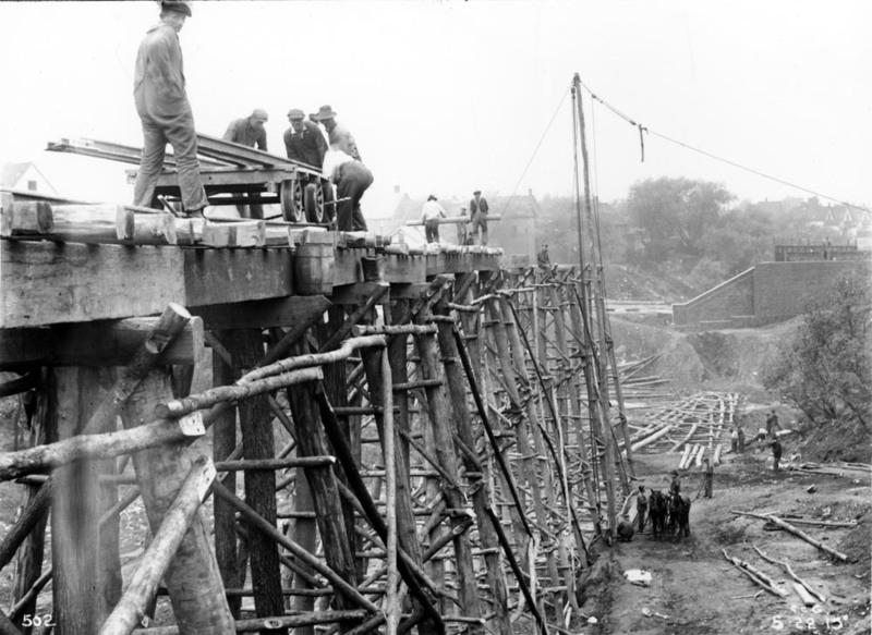 Temporary Construction Trestle, 1915