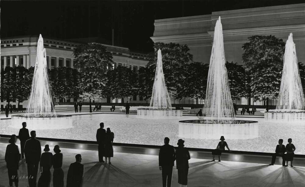 Artist Rendering of Hanna Fountains