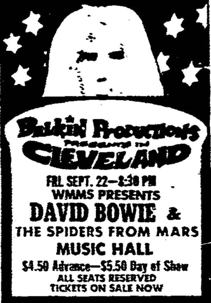 David Bowie Concert Ad
