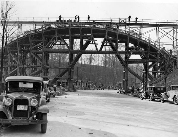 Footbridge Construction, 1939