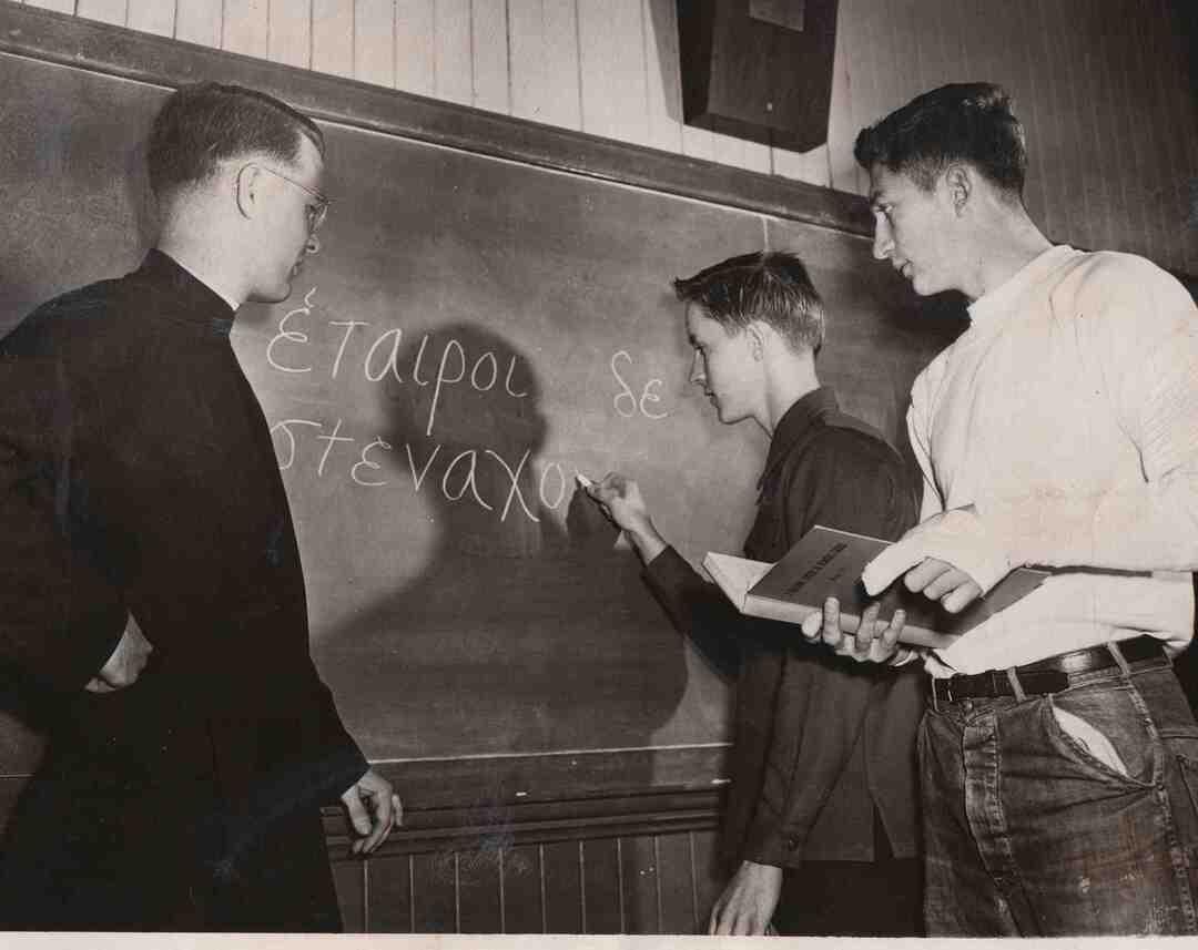 Learning Greek, 1949