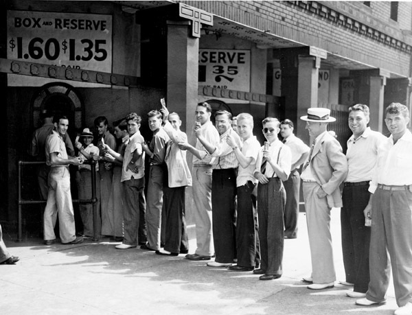 Ticket Line at League Park, 1940.