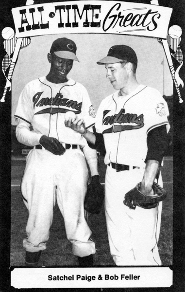 Satchell Paige and Bob Feller, ca. 1948