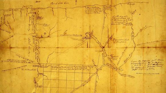Map of Northeast Ohio, ca. 1770s