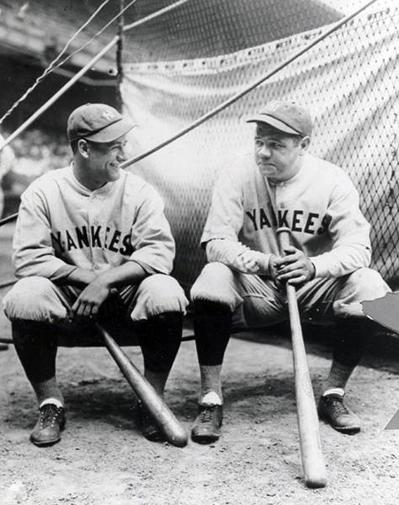 Gehrig and Ruth at League Park, 1927