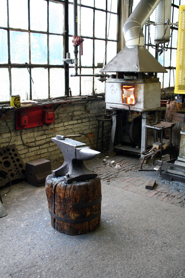 Anvil and Firing Stove