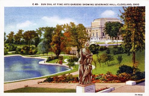 Severance Hall and the Fine Arts Garden, 1940.