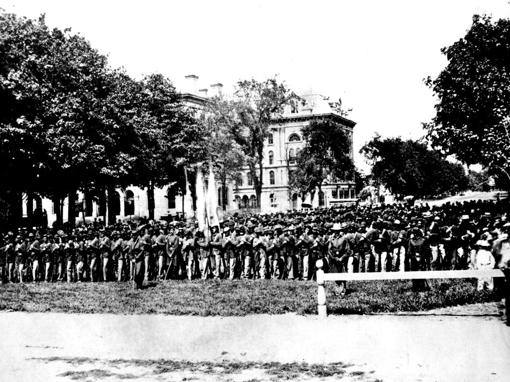 Infantry at Memorial, 1865