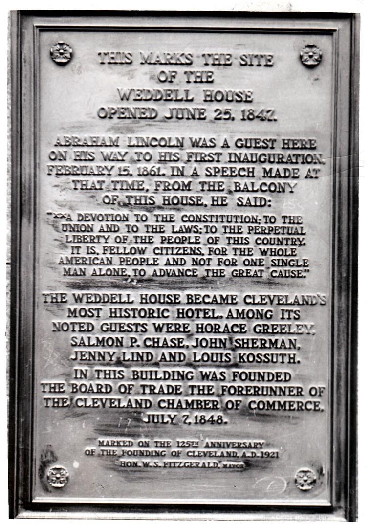 Weddel House Plaque