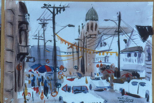 Little Italy Watercolor