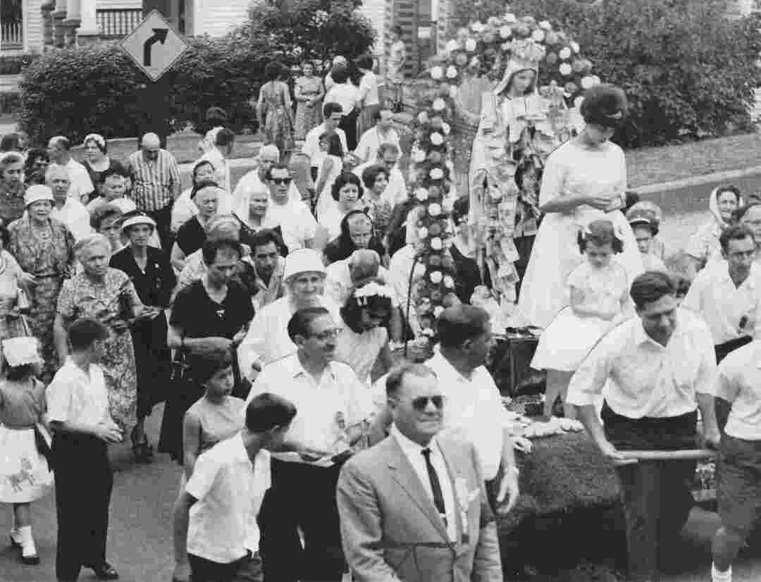 Our Lady Of Mt. Carmel Street Procession, 1962