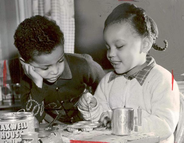 Children at Phillis Wheatley, 1951