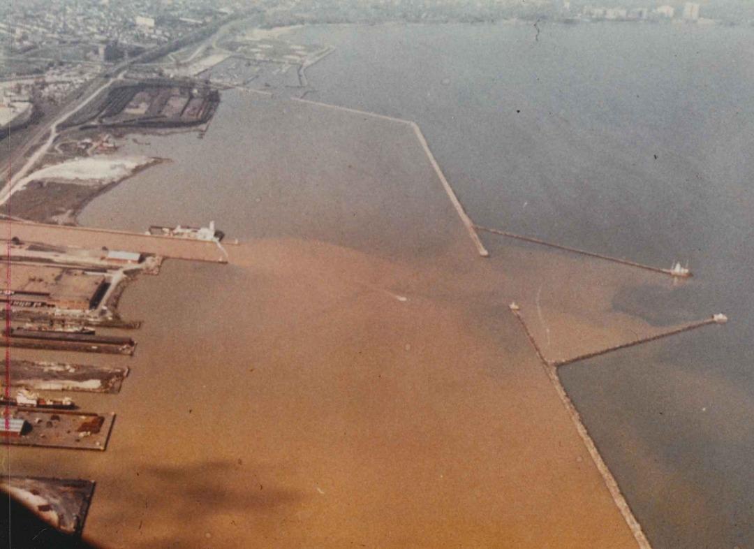 River Enters Lake, 1966