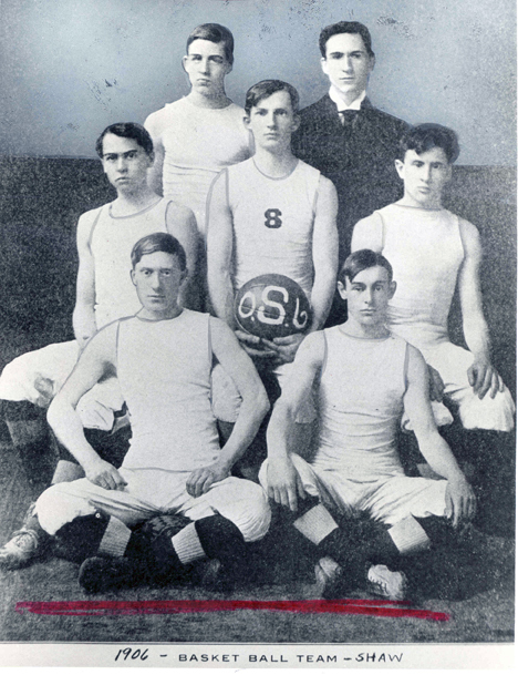 Shaw Academy Basketball Team, 1906