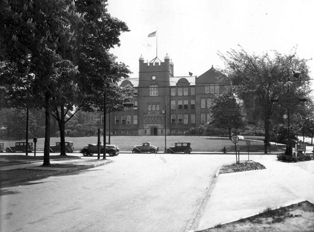 Shaw High School exterior, 1933