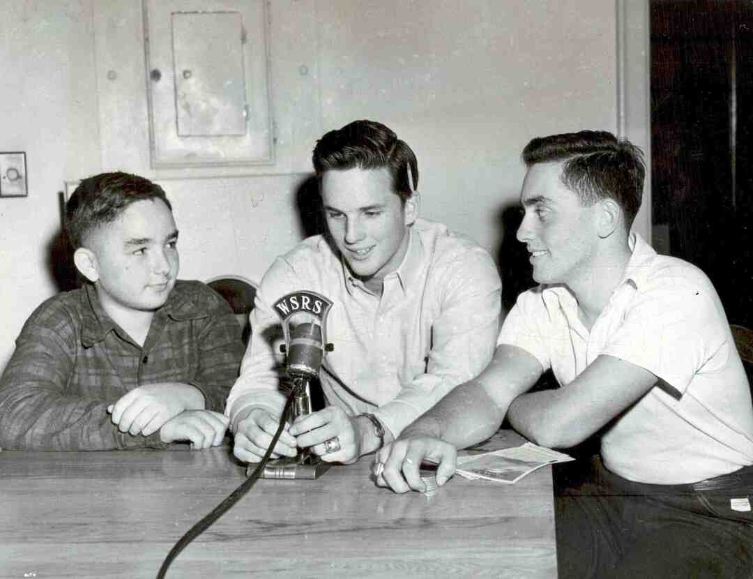Shaw High Radio WSRS, ca. 1950