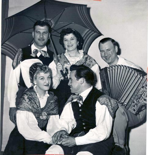Lou Trebar and Slovenian Dancers, 1951