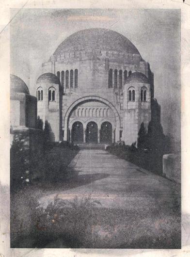 Temple Exterior, 1933