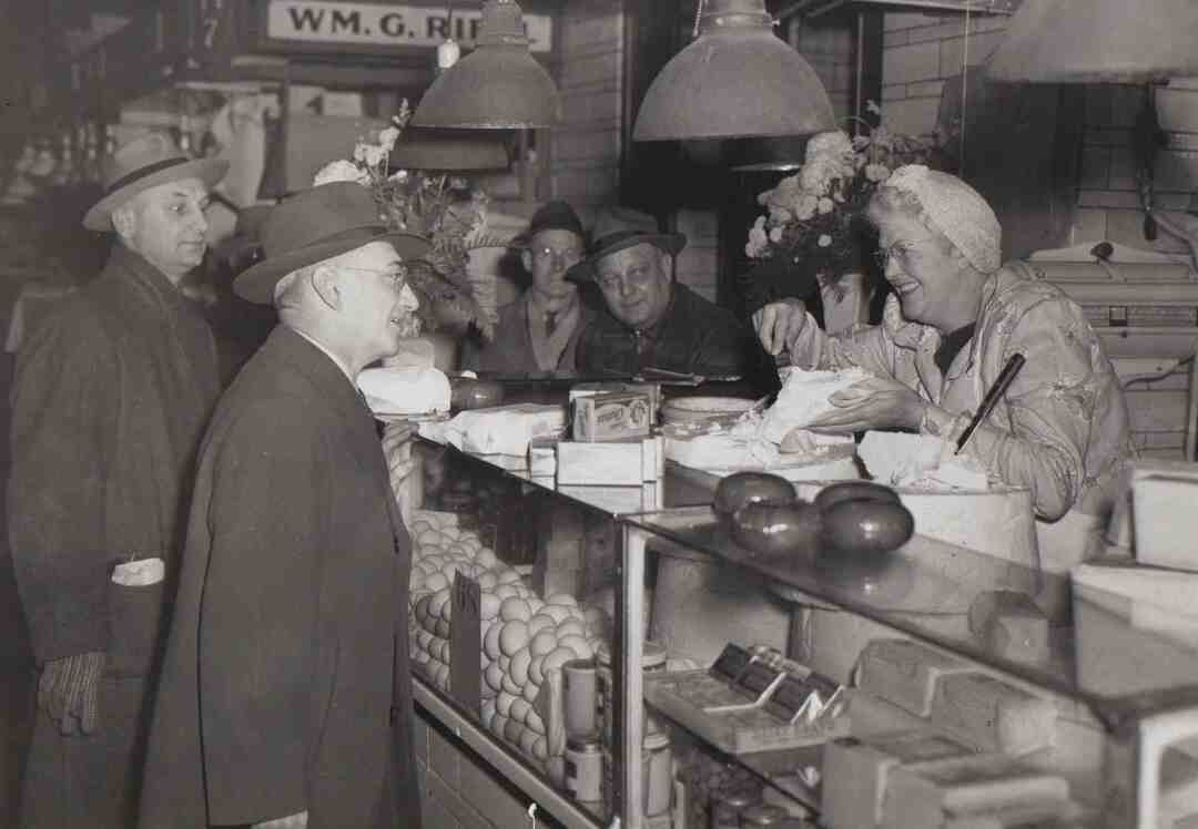 Dairy Stall, 1945
