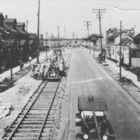 Construction on Abbey Avenue, ca. 1920